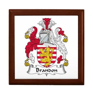 Brandon Family Crest Trinket Box