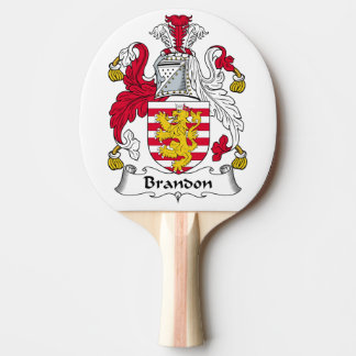 Brandon Family Crest Ping-Pong Paddle