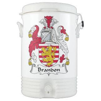 Brandon Family Crest Igloo Beverage Dispenser