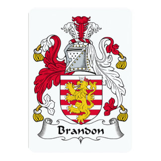Brandon Family Crest Invite