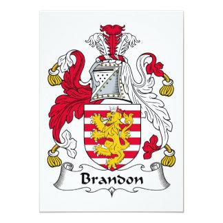 Brandon Family Crest Custom Invite