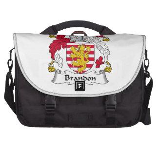 Brandon Family Crest Laptop Bags