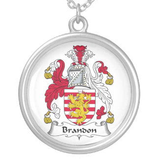 Brandon Family Crest Personalized Necklace