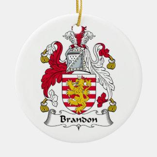 Brandon Family Crest Christmas Tree Ornament