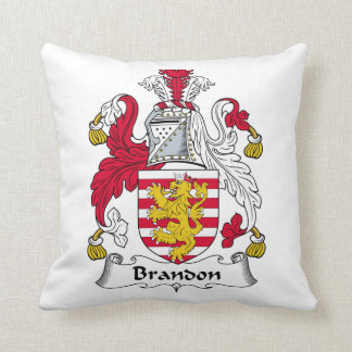 Brandon Family Crest Throw Pillows