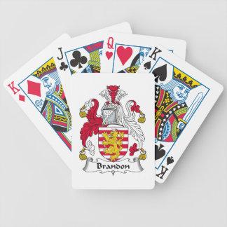 Brandon Family Crest Poker Cards