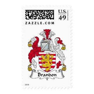 Brandon Family Crest Postage Stamp