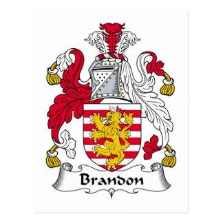 Brandon Family Crest Postcards