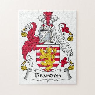 Brandon Family Crest Jigsaw Puzzle