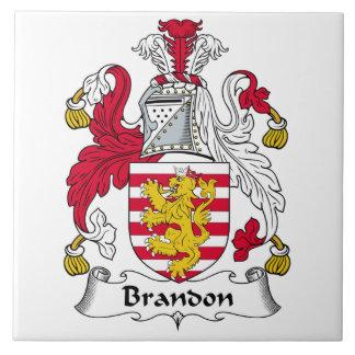 Brandon Family Crest Ceramic Tile