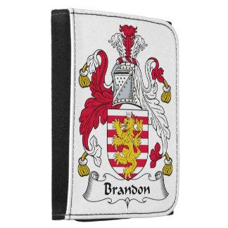 Brandon Family Crest Leather Tri-fold Wallet