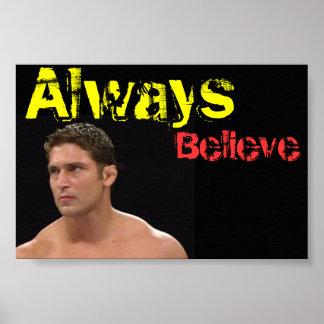 Brandon Groom Always Believe Poster