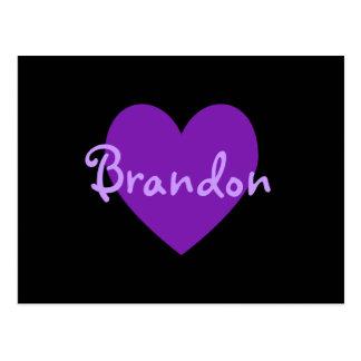 Brandon in Purple Postcard