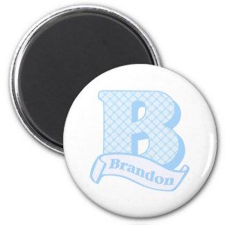 Brandon Monogram 2 Inch Round Magnet