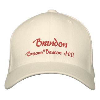 Brandon Name Cap Hat Embroidered Hat