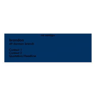 brandon, rama de 49 darmon, contacto 1, contacto 2 plantilla de tarjeta de negocio