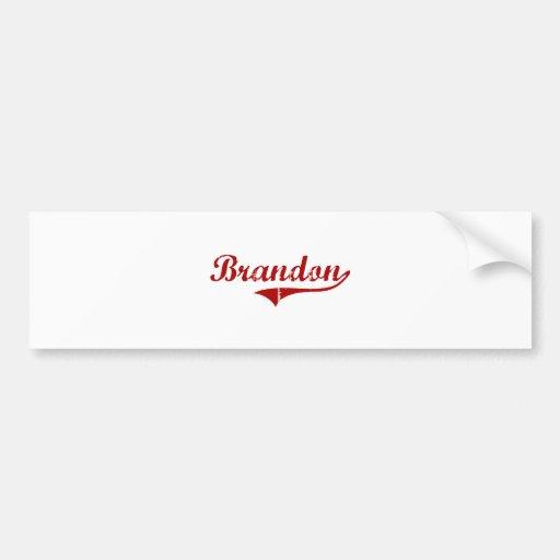 Brandon South Dakota Classic Design Bumper Sticker