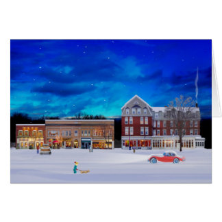 Brandon Vermont on a winter night Card