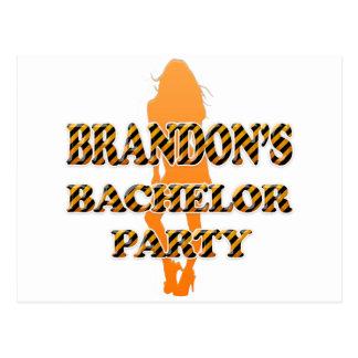 Brandon's Bachelor Party Postcard