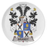 Brandt Family Crest Party Plates