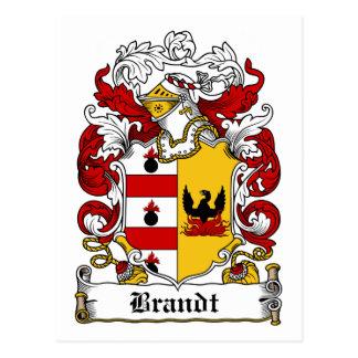 Brandt Family Crest Postcard