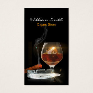 Brandy / Cigars Store Business Card