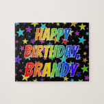 "[ Thumbnail: ""Brandy"" First Name, Fun ""Happy Birthday"" Jigsaw Puzzle ]"