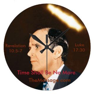 Branham Round (Large) Wall Clock - Time No More
