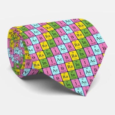 Science teacher custom name periodic table navy neck tie zazzle urtaz Choice Image