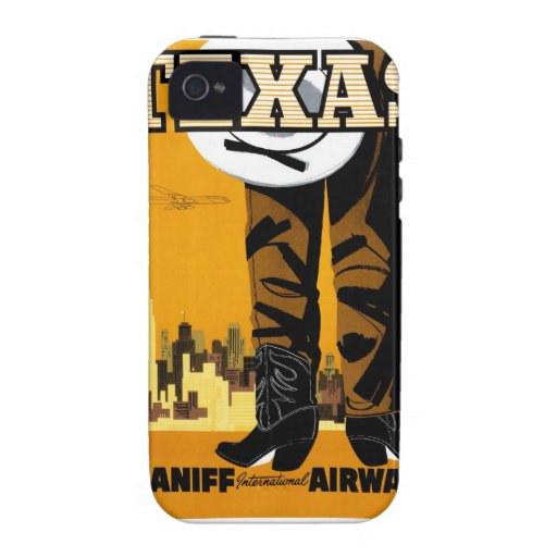 Braniff - poster de Tejas iPhone 4/4S Carcasa