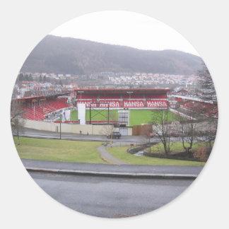Brann Stadion Pegatina Redonda