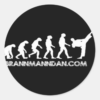 Brannmanndan Products Classic Round Sticker