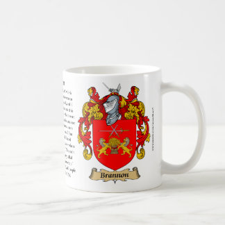 Brannon, the Origin, the Meaning and the Crest Coffee Mug