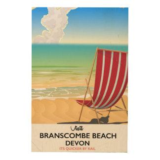 Branscombe Beach Devon vintage seaside poster