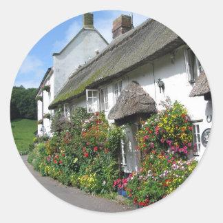 Branscombe Village Devon Classic Round Sticker