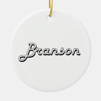 Branson Classic Retro Name Design Ceramic Ornament