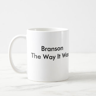 Branson la manera era taza