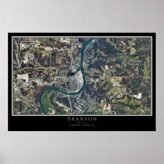 Branson Missouri del arte del satélite del espacio Póster