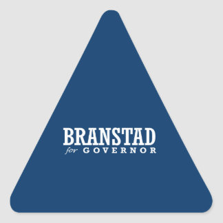 BRANSTAD FOR GOVERNOR 2014 TRIANGLE STICKERS