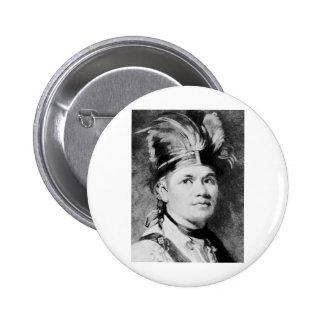 Brant - Joseph / Mohawk Indian Chief Pinback Button