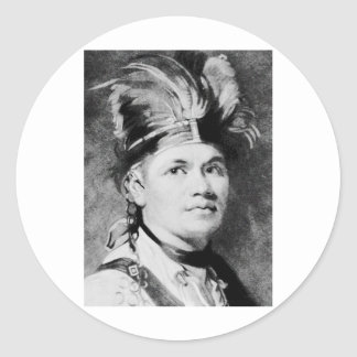 Brant - Joseph / Mohawk Indian Chief Round Sticker