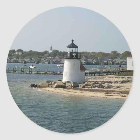 Brant Point Classic Round Sticker