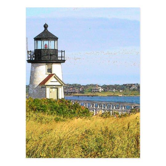 Brant Point Lighthouse 2 - VINTAGE LOOK Postcard