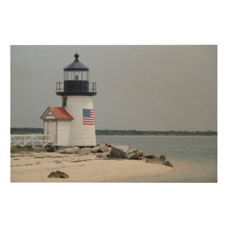 Brant Point Lighthouse 2 Wood Print