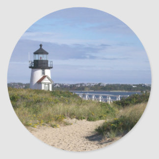 Brant Point Lighthouse Classic Round Sticker