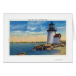 Brant Point Lighthouse Scene Greeting Card