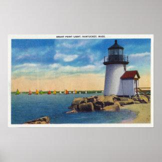 Brant Point Lighthouse Scene Poster