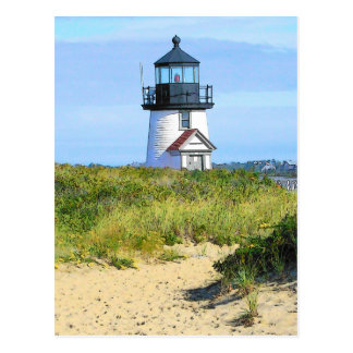 Brant Point Lighthouse - VINTAGE LOOK Postcard