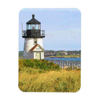 Brant Point Lighthouse Vintage Nantucket Rectangular Photo Magnet