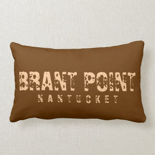Brant Point Nantucket Reversible Brown Throw Pillow